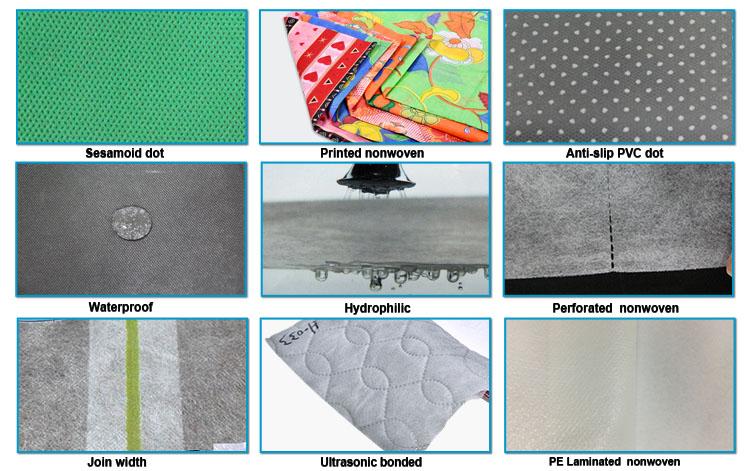 Rayonson Vlies, Ruixin, Enviro Industries Rohmaterial aus Vliesstoff Fabrikpreis für Erwachsene-3