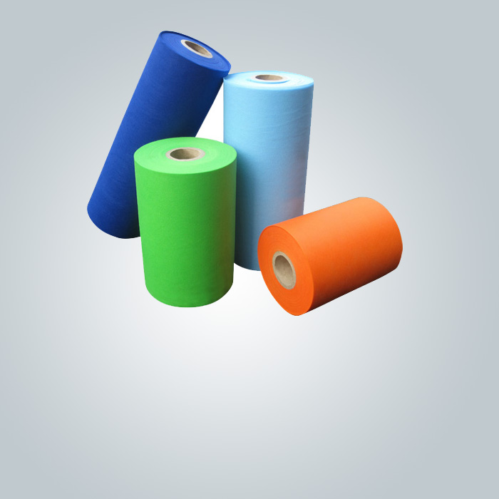 rayson nonwoven,ruixin,enviro-blue and pink color SMS nonwoven fabric is used in sap bed sheet