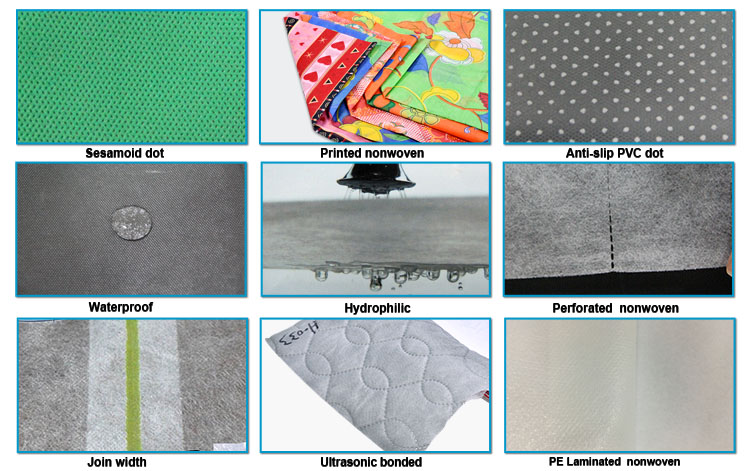 rayson nonwoven,ruixin,enviro-blue and pink color SMS nonwoven fabric is used in sap bed sheet-2
