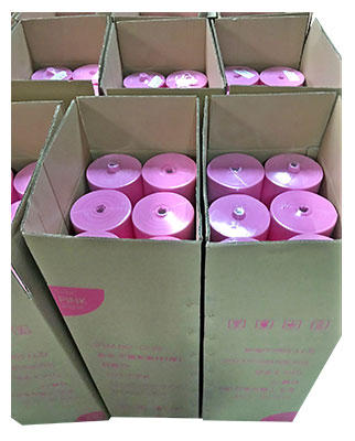 rayson nonwoven,ruixin,enviro-Light Green Pink Color Easy Carry TNT Disposable Bedsheet Packing In R-10