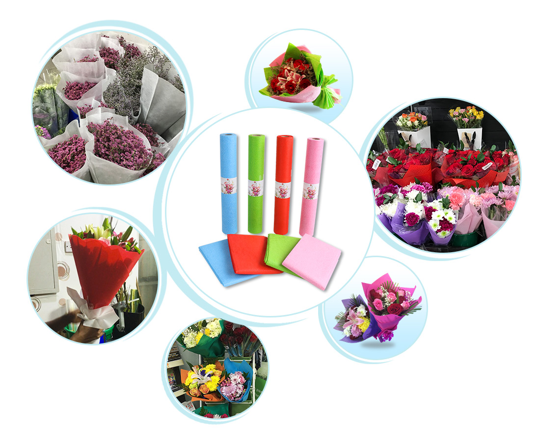 rayson nonwoven,ruixin,enviro-Flower embossed non woven for flower packing