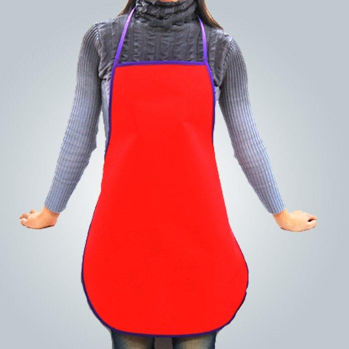 Popular Pantone Disposable Non Woven TNT Apron to Supermarket