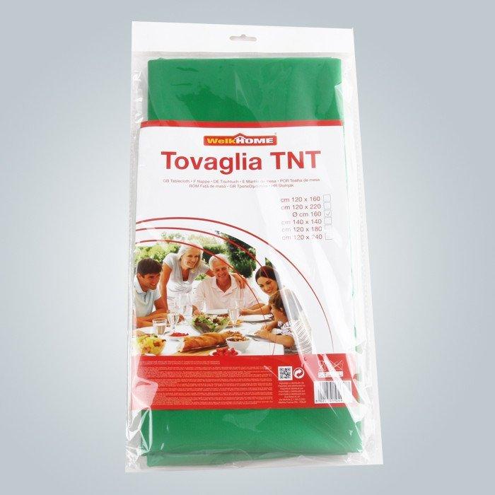 Solo paquete en paño de tabla de bolsa con papel de color no tejido de polietileno