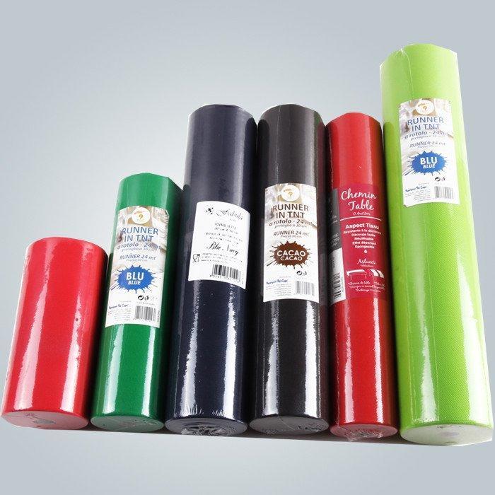100 % vierge Spunbond en polypropylène Non tissé rouleau de tissu de Table feuilles