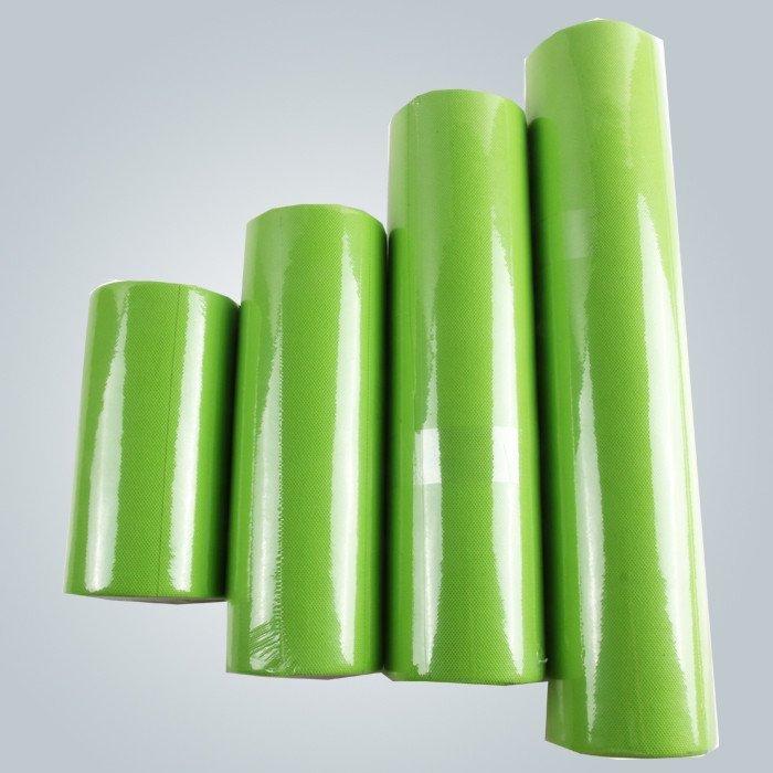 हरे रंग छोटे रोल गैर बुना टेबल क्लॉथ precut