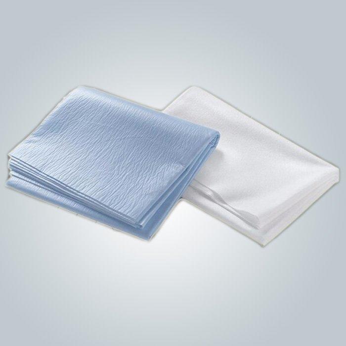 2 capa PP PE laminado resistente al agua no tejido sábana piel amistosa un uso