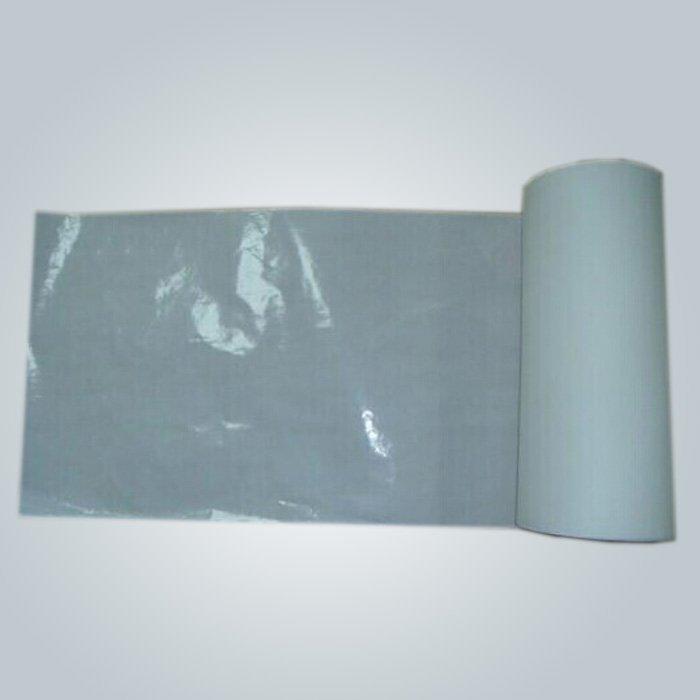 2 camadas PP / PE laminado impermeável não tecido lençol pele amigável um uso do tempo