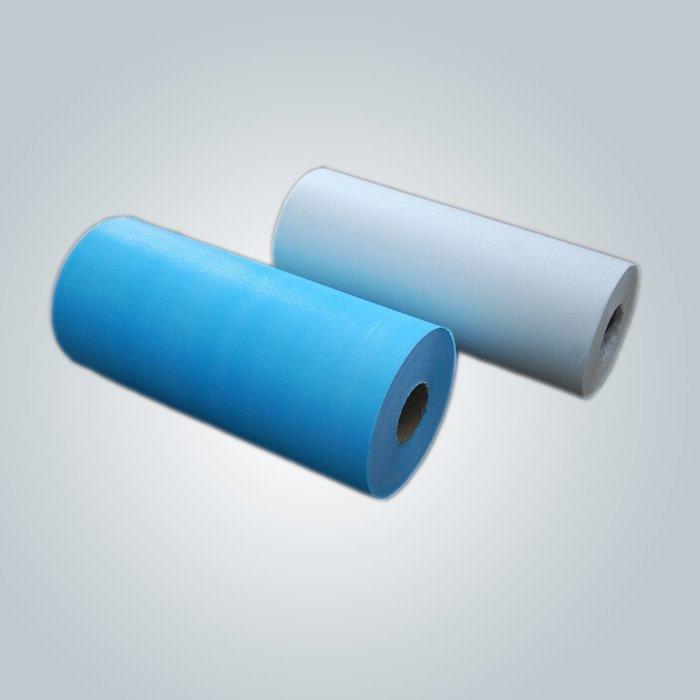 Folha de cama descartável não tecido impermeável Spunbond não tecida rolos de tecido