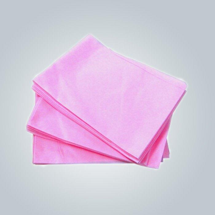 टुकड़ा में बिस्तर शीट गुलाबी चिकित्सा का प्रयोग डिस्पोजेबल बिस्तर शीट Polypropylene गैर बुना