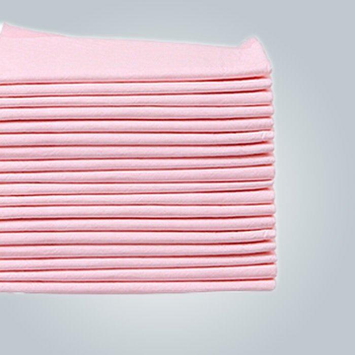 분홍색 의료용 일회용 침대 시트 폴 리 프로필 렌 비 짠 침대 시트 조각