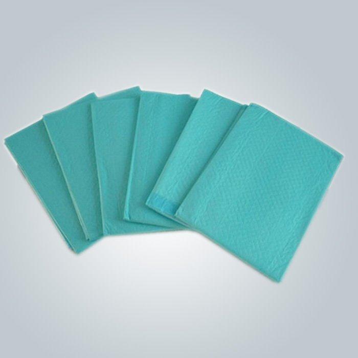 100% polypropylene पीपी सामग्री ग्रीन रंग 50 जीआर डिस्पोजेबल Nonwoven Bedsheet