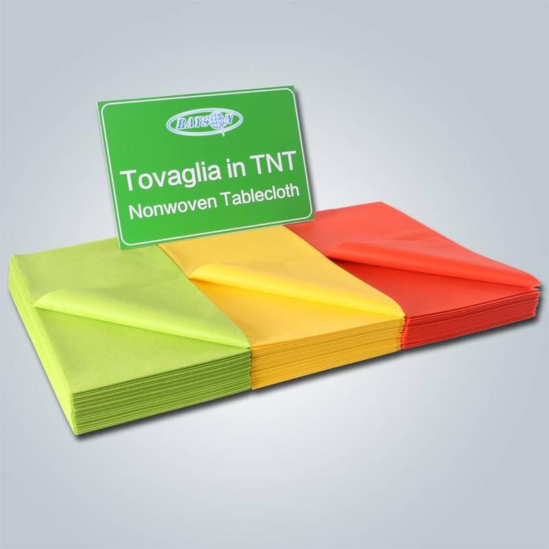 रु-TC09 differet में डिस्पोजेबल टीएनटी गैर बुना टेबल कवर आकार RS-TC09
