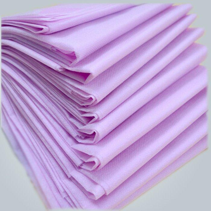 Keine Stimulation lila PP Spunbond Non woven Einweg Bed Sheet 40 GSM