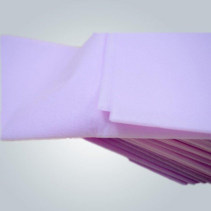Ningún estímulo púrpura PP Spunbond no tejido disponible cama hoja 40 GSM