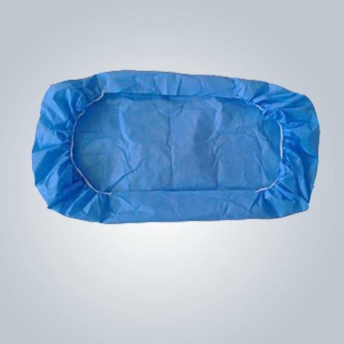 50 जीआर नीले Nonwoven बिस्तर कवर के साथ इलास्टिक बैंड कोई गंध नहीं उत्तेजना से त्वचा के लिए