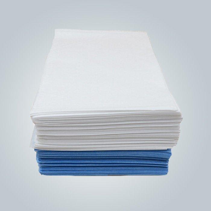 Bleu / blanc hôpital vêtements SMS / SMMS Non tissé médical tissu polypropylène