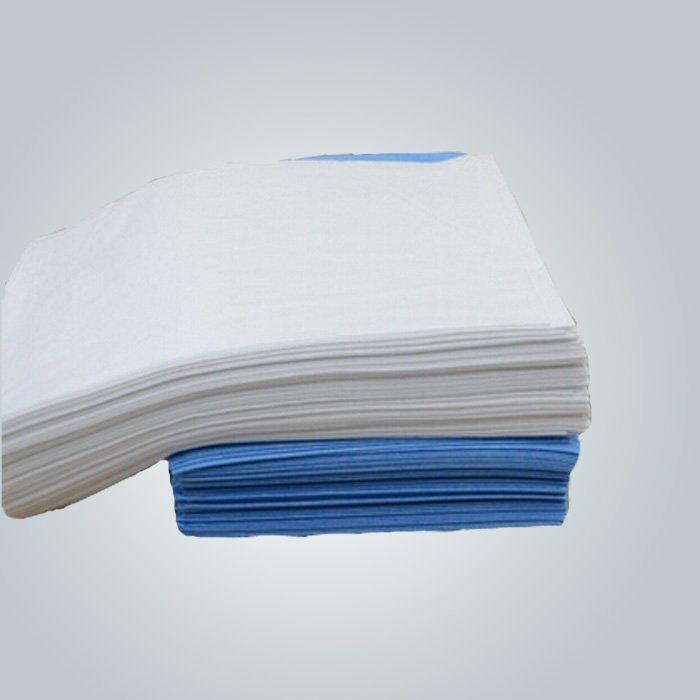 Blu / bianco ospedale vestiti SMS / SMMS Non tessuto in polipropilene medica tessuto