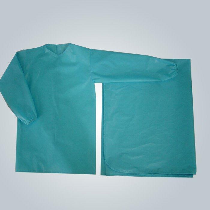 Médico hospitalar vestir pano água prova médica não tecida avental cirúrgico