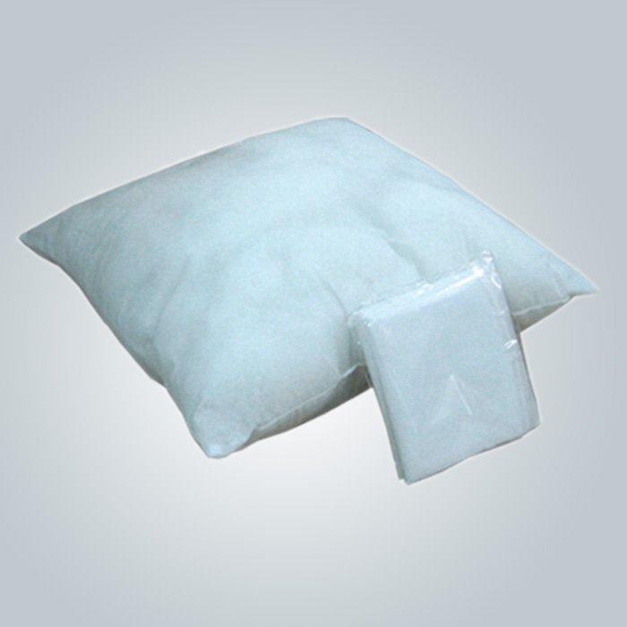 CE non-tissé blanc de couverture d'oreiller d'avion et certificat de FDA 40 cm * 40 cm