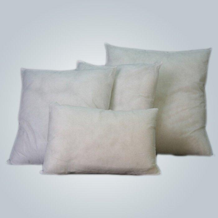 Certificado de CE y FDA de la cubierta de almohada no tejida blanca del aeroplano 40 cm * 40 cm