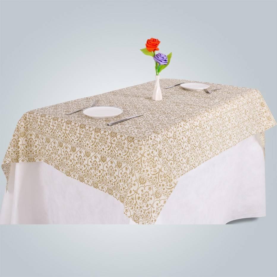 Tampa de tabela do projeto impresso descartáveis tnt / polipropileno não tecido de toalha de mesa