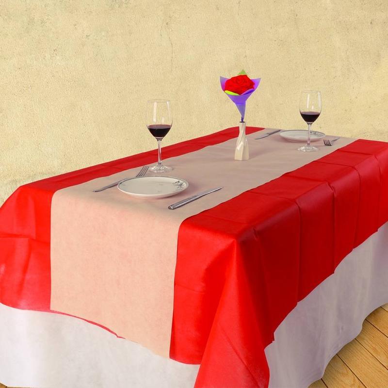 プレーン スタイルの食堂のアゾ無料 tnt 以外不織布 tabelcloth/ホテル/パーティー