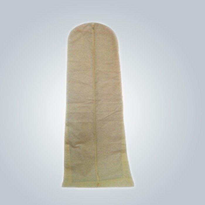 Épreuve de la poussière sac de vêtement robe de mariage en gros avec fermeture à glissière
