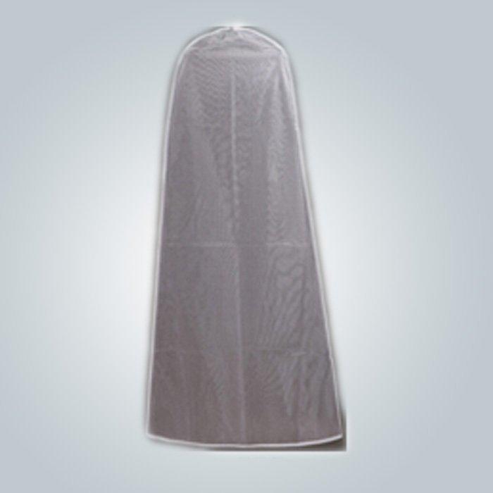 Bolso de ropa del vestido de novia Venta por mayor con cremallera a prueba de polvo