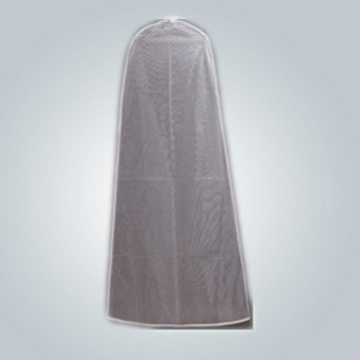 الغبار كيس الملابس ثوب الزفاف دليلاً على الجملة مع سحاب