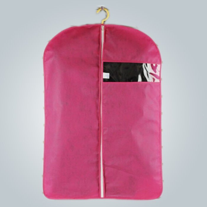 गर्म बिक्री Mens डिस्पोजेबल Foldable लाल रंग Nonwoven सूट कवर