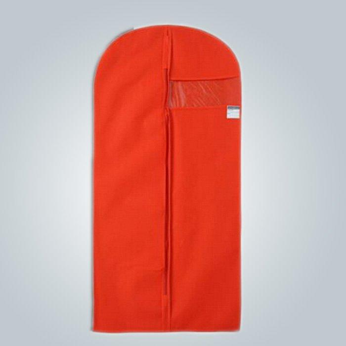 Hot Sale Mens Disposable Foldable Red Color Nonwoven Suit Cover