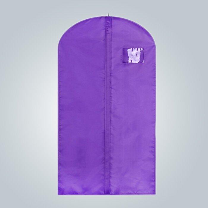 Bolso de empaquetado de ropa alta calidad tela con ventana de ficha nombre de la experiencia