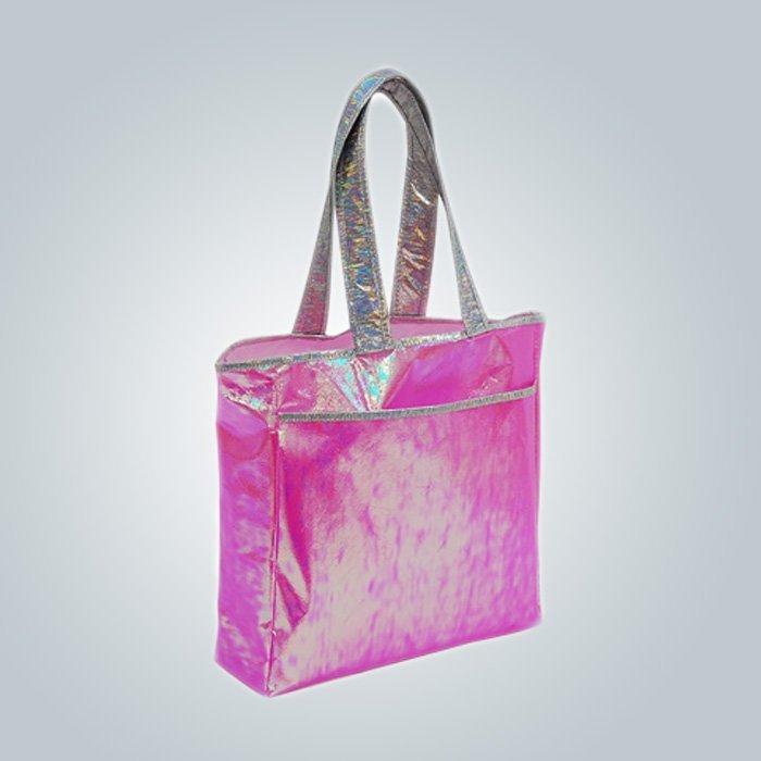 Mango largo colorido PP Non Woven bolsas de supermercado / tienda de paño
