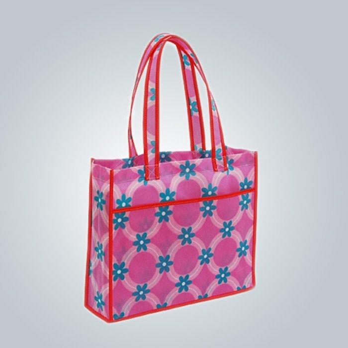 Bolso de compras no tejido, bolsas de polipropileno no tejido de la impresión colorida