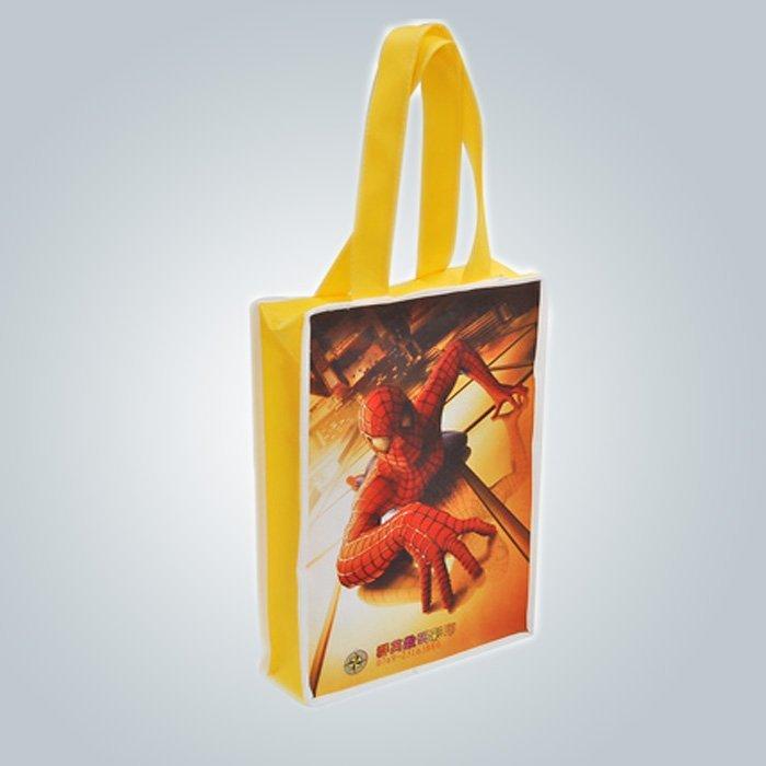 Mode 100 % PP nicht gewebte Taschen, 75gsm voller Druck PP Non Woven Shopping Bag