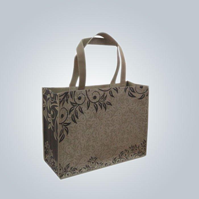 Insignia modificada para requisitos particulares PPNonwoven bolso no tejido bolsas promocionales tipo Top abierto con mango fuer