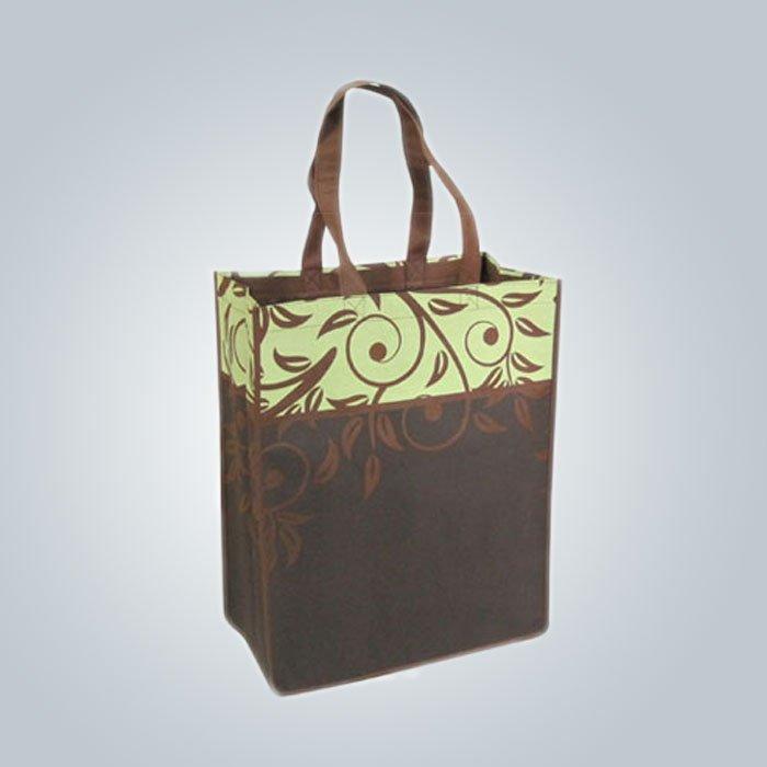 Logo personalizzato PPNonwoven sacchetto Non tessuto borsa promozionale tipo Top aperto con forte maniglia