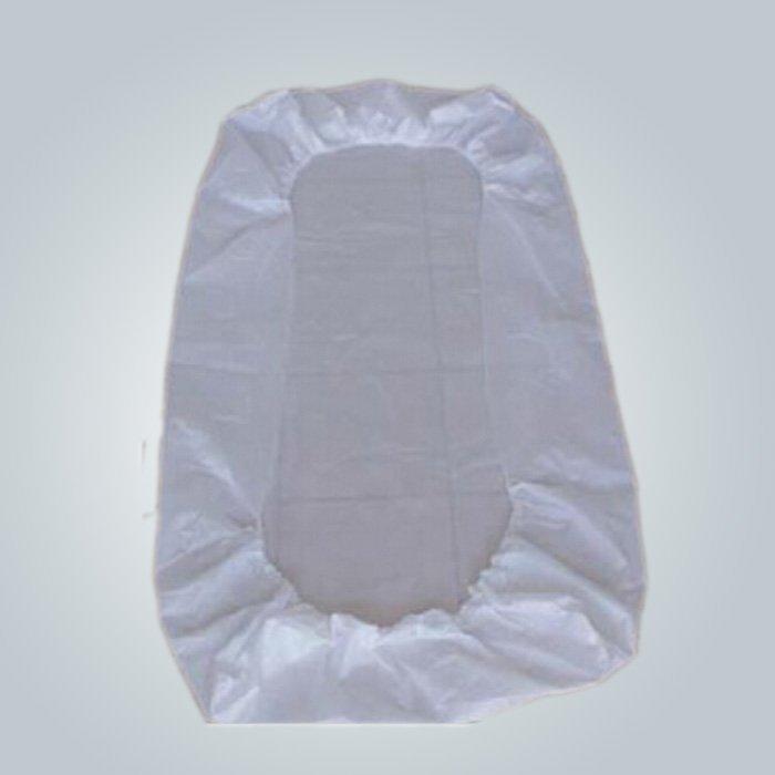 40GSM jetable bleu / blanc médical tissu Non tissé pour couette / oreiller Slip