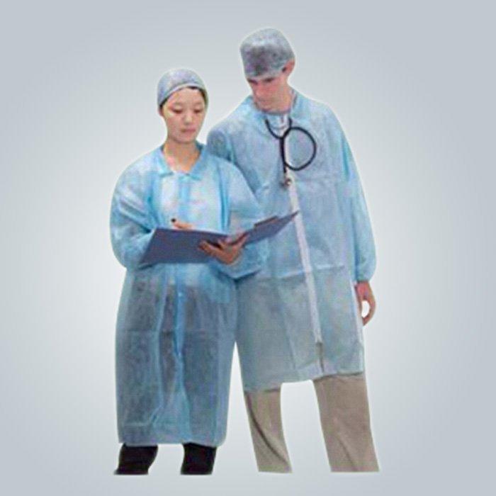 Cap chirurgical hygiène masque facial SS médical non-tissé 20gsm couleur bleue Spunbond