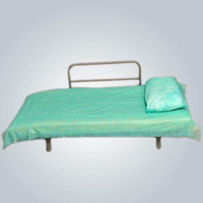 Antibakterielle Funktion PE beschichtet Kunststoff Einweg-Vlies Bettwäsche