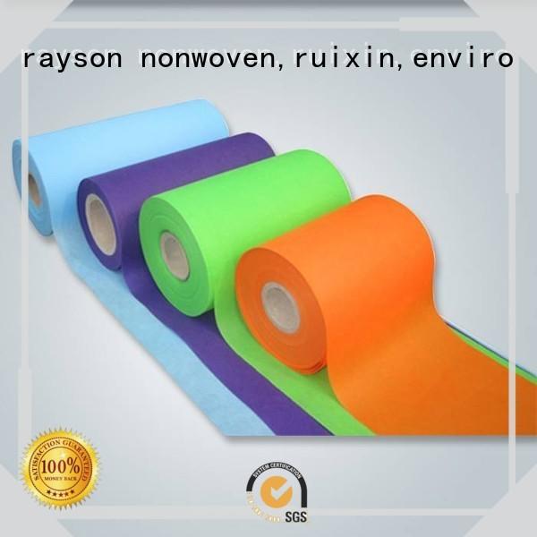 Serie de lista de precios de rollo de tela no tejida médica para tienda rayson nonwoven, ruixin, enviro