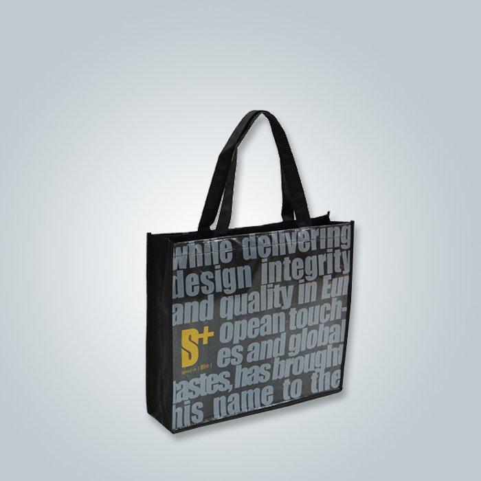 bolso de compras no tejido, impreso bolsas de tela no tejida, no tejida lleva