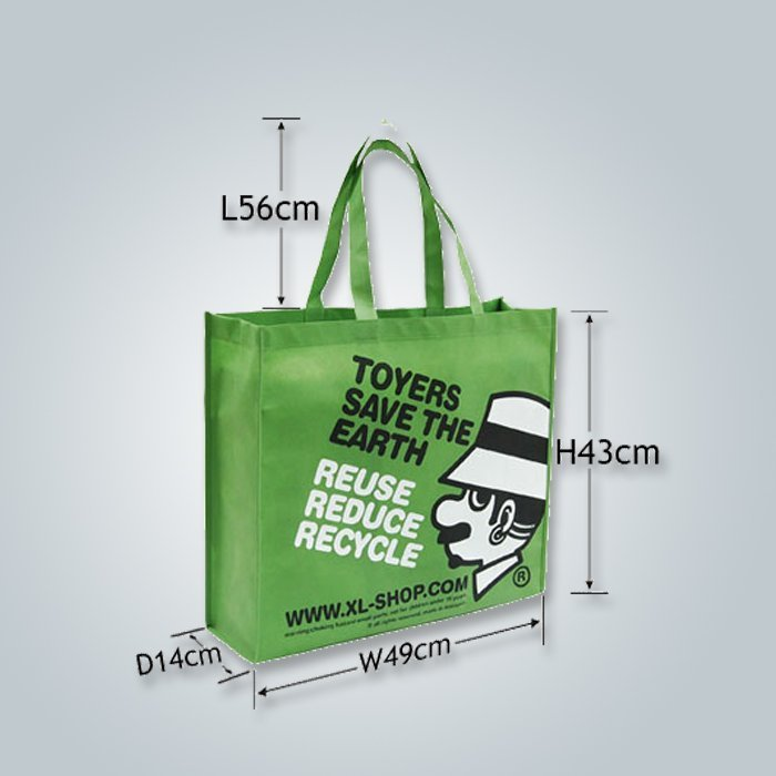 dibujo de cadena bolsos no tejidos, bolso de compras no tejido, bolso no wowen
