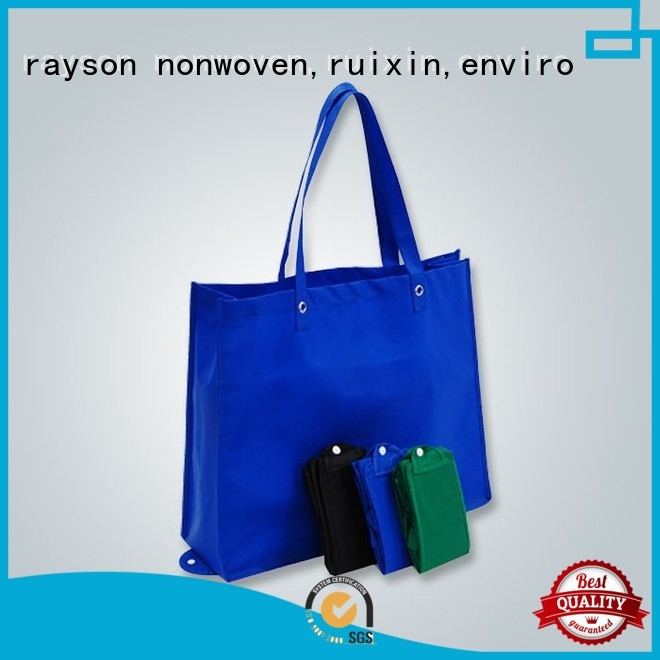 rayson nonwoven,ruixin,enviro Brand colorful gsm non woven fabric foldable supplier