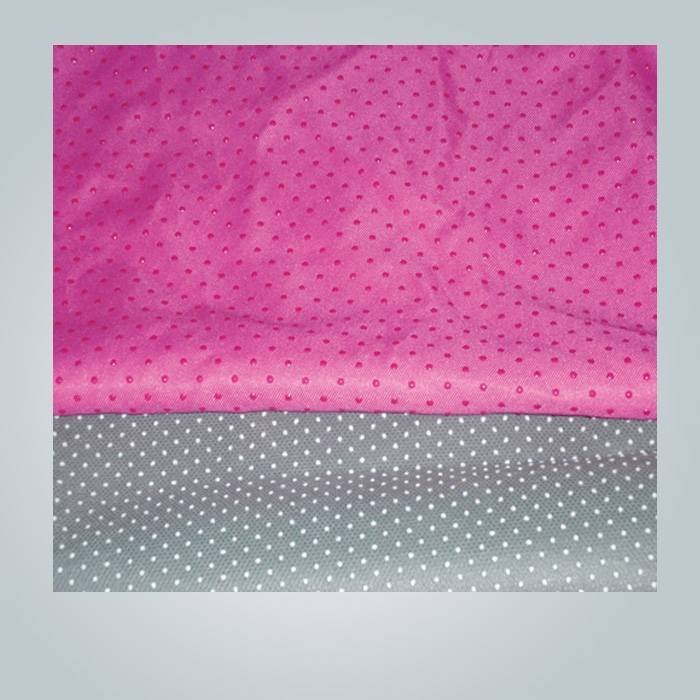 material no tejido, antideslizante de fibra no tejida, no tejida textil