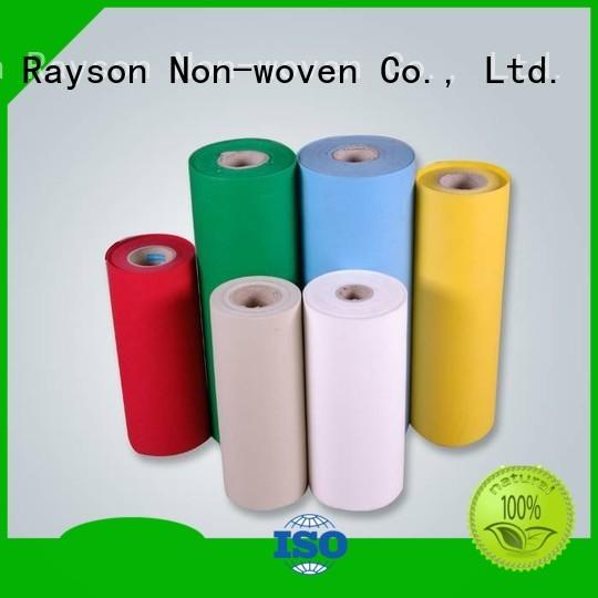 rayson nonwoven,ruixin,enviro Brand pet gsm elongation non woven weed control fabric manufacture