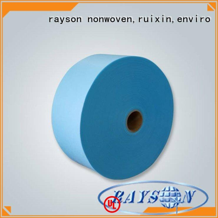 Rayson محبوكة ، ruixin ، بيئى فلتر غير المنسوجة المواد الجملة للالتفاف