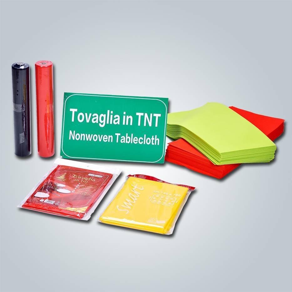 Fabricante directo tnt tabla tela pp no tejida 50 gr de diferentes colores