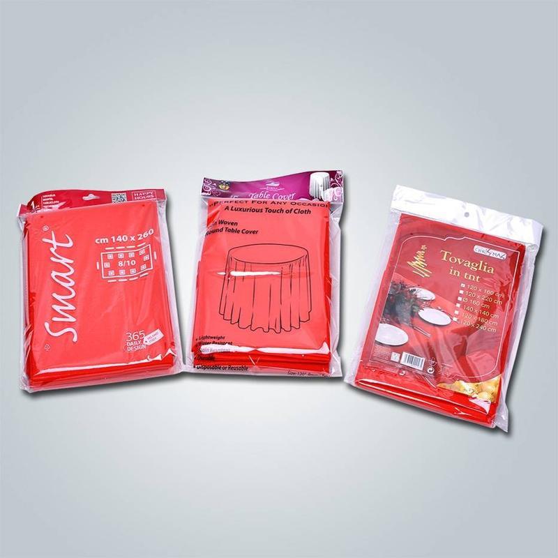 OEM Conception d'OEM accepté nappe tissu non tissé / filé servile couverture de table tnt