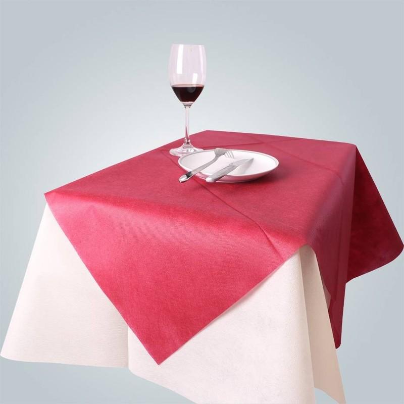 Tischdecke verwendet Material Großhandel tnt nicht gewebte Stoff in unterschiedlicher Dicke